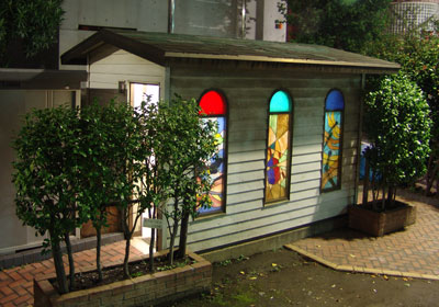 stained glass toilet Tokyo  Design Tide and Architecture