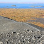 Julia gives scale to Hverfjall crater