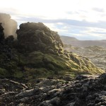 Landscape formed by the Krafla fires