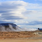 Sulphur steam at Hverir