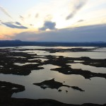 Sunrise over lake Myvatn