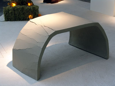 'Resilience' concrete and wool table - tall version